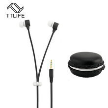 TTLIFE Candy Color Earphones Cute Style In-ear Earphone With HD Microphone Stereo Earbuds For Nokia Phone MP3 Birthday Gift(China)