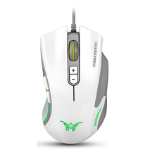 White CW10 4800 DPI Wired Gaming Mouse Mice 7 Buttons Design 6 Breathing LED Colors Changing High Precision for Gamer PC MAC(China)