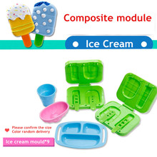9pcs Play Dough Model Clay color DIY Popsicle ice cream mold non-toxic plastic mold tool Christmas birthday gift toys playdough