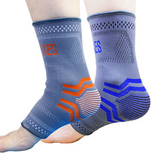 AOLIKES 2 pcs /Pair Nylon Elastic Ankle Braces Support Foot Sprain Ankle Joint Protector Sports Safety Tobilleras Deportivas M L
