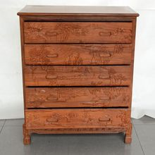 Mahogany furniture mahogany commode rosewood Chinese Carved Wood lockers bedroom chest of drawers cabinets(China)