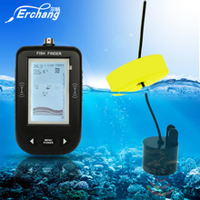 Erchang Portable Wired Sonar Fish Finder Depth Echo Sounder For Fishing Alarm 100M Sonar Frequency Detection Depth Finder(China)