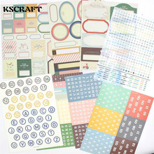 KSCRAFT Practical Office Tag Sticker Set for Scrapbooking DIY Projects/Photo Album/Card Making Crafts