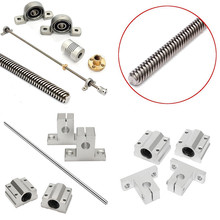 500*8mm T8 Linear Guide Rails Shaft Screw Lead Screw Nut Bearing Blocks Set For CNC Parts