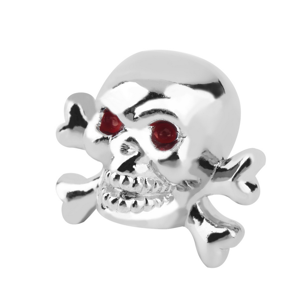 1pc Sliver Universal Fancy Pirate Skull Tire Tyre Air Valve Stem Caps for Auto Car Truck Motorcycle Bike Wheel Rims 3