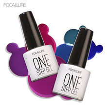 Focallure 7ml One Step Nail Gel Polish Soak Off Gel Long Lasting UV Gel Colorful Polishes 3 in 1 Nair Art DIY Designer(China)
