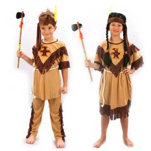 Childrens Kids Boys Girls Indian Cosplay Costume Soldiers Warrior Fancy Dress Costumes Party Supplies