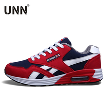 UNN Latest 2017 Red Sports Shoes Air Sole Winter Shoes Men With Fur Black Sneakers Lifestyle Shoes Running(China)