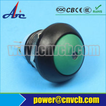 TY  1202 plastic momentary dot light  illuminated 12v led pushbutton switch