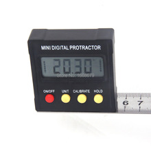 Electronic Digital Protractor Inclinometer Clinometer Angle Gauge Meter Level Box 360-degree