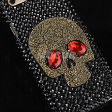 Metal Style Skull Skeleton Crystal Bling Capa Case for Galaxy S3 S4 S5 S6 S6Edge S6Edge+ S7 S7Edge Note2/3/4/5 Samsung&iPhone