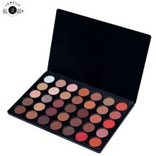 Professional 35 Color Glitter Eyeshadow Palette Silky Powder Make up Pallete Cosmetics Smoky/Warm 100% Shimmer Eye shadow Kit(China)