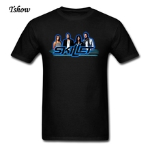 Skillet Rock Band T Shirt Men Cool Summer Print Skillet T-shirts Guys Short Sleeve Cotton Plus Size XS~3XL Shirt For TeenBoys