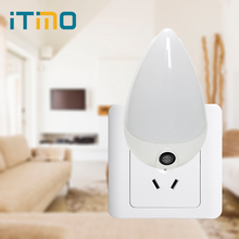 iTimo Water Drop LED Night Light Smart Light Sensor Staircase Corridor Wall Socket Lamp Children Bedroom Emergency Light EU Plug(China)