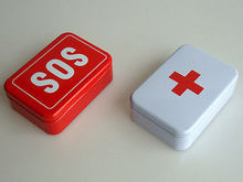 Tin Box Case Lid Container for Survival Gear Kits Set First Aid Pill Box