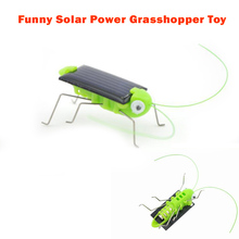1 Piece Solar Power Toy Cool Funny Solar Energy Crazy Grasshopper Cricket Toys Best Birthday/Christmas Gift for Children