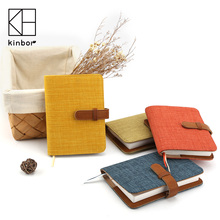 Kinbor Hobonichi Style A6 Cloth&PU Cover Notebook Undated Calender Planner Journal Diary Travel Notebook Gift Stationery