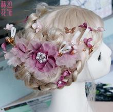 Winter Korean New Bridal Comb Handmade Fabric Headdress Suit Wedding Dress Accessories