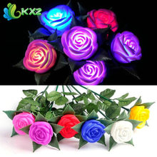 Rose LED Lights Flower Lamp Garden Yard Outdoor Path Lawn Power Xmas Decorative