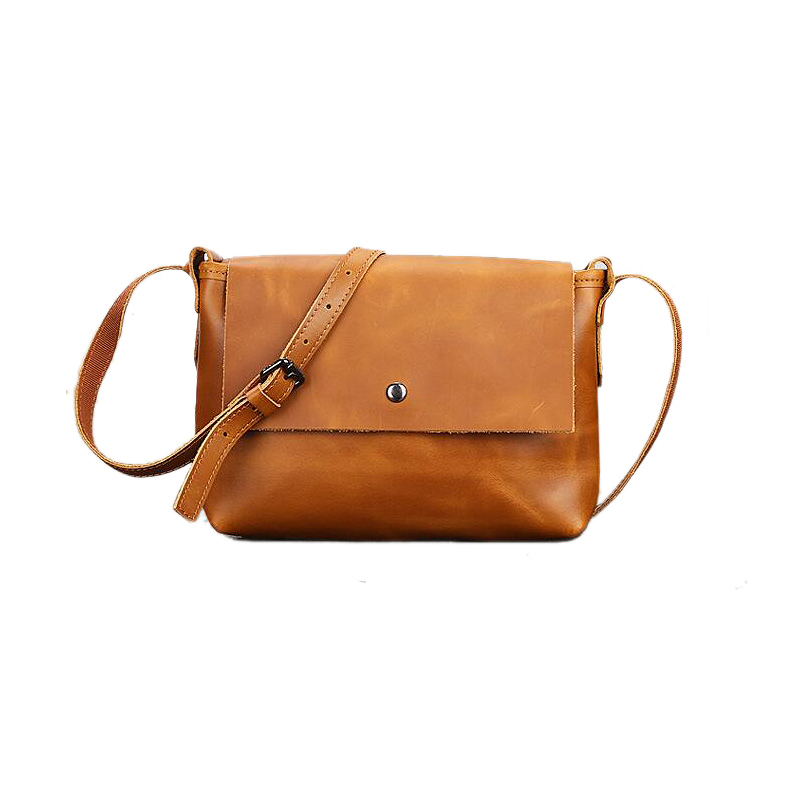 2017 Vintage genuine leather women flap bag Fashion lady solid color messenger bags New design real leather mujer crossbody bag<br>