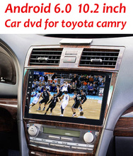 Quad Core HD 1024X600 Android 6.0 Car DVD Player For Toyota Camry 2007 2008 2009 2010 2011 GPS Navigation Radio BT Stereo system(China)