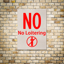 No Loitering Plaque Warning Stickers Cars And People Are Not Allowed To Stay Here Signs Road Stickers Decoration 1PC 15x20 CM