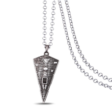 J Store Star Wars Pendant Necklaces Battleship Spaceship Imperial Star Destroyer 3D Metal Silver Jewelry Accessories