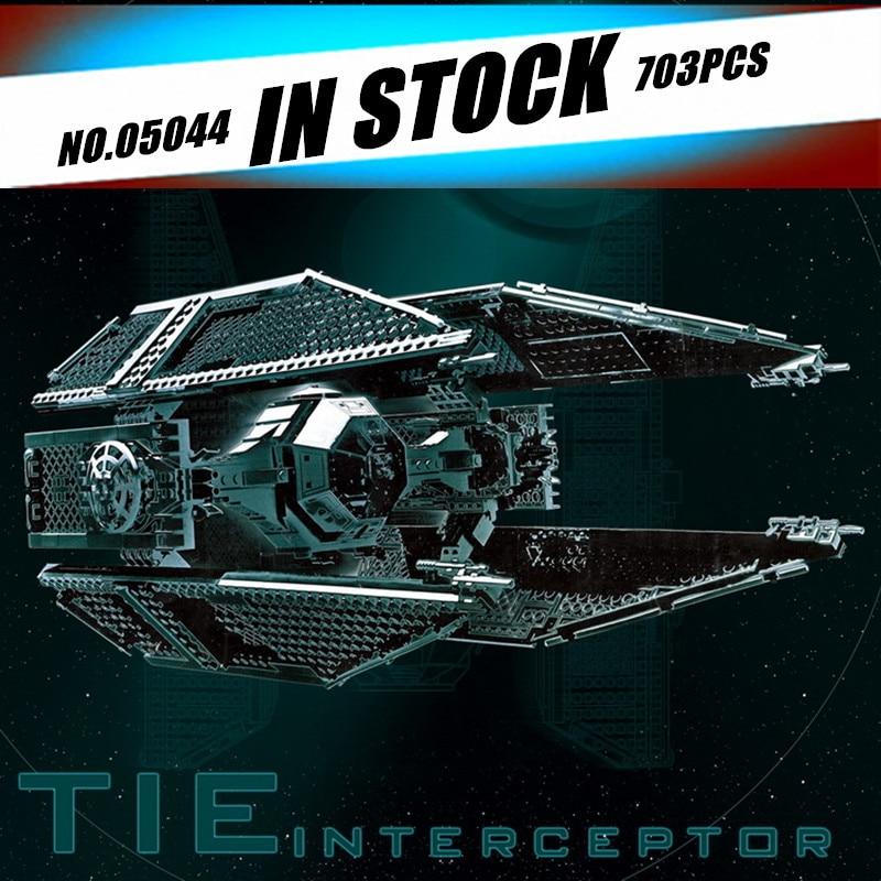 In Stock Lepin 05044 New Star War Series Limited Edition The TIE Interceptor 703pcs Building Blocks Bricks Model Toys  7181<br><br>Aliexpress