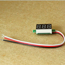 1pcs/lot Digital Voltmeter DC 0V to 40V 0.36 inch LED Digital Panel Meter Voltage tester RED/GREEN/BLUE monitor 33*15*10mm