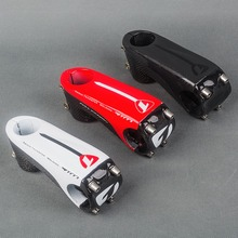 2016 New Arrvial Ultralight Glossy Full 3k Carbon Road Bike Stem 6 Degrees 80/90/100/110mm Mountain Bicycle Parts 145g