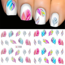Wholesale 1 Sheet Water Transfer Sticker Feature Nail Decal Stickers Nail Art Decorations Wraps Foil Sticker Manicure Tool