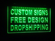 design your own Custom 2 size ADV LED Neon Light Sign Bar open Dropshipping decor shop crafts led home decor crafts(China)