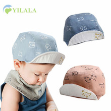 New Cute Baby Boys Cap Solid Cotton Kids Summer Hat Cat Print Baseball Cap Photograph Props 2017 Baby Girls Hat Accessories
