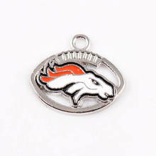 10pcs/lot The Best Christmas Football Fans Gifts Denver Broncos Charms And Pendants For Jewelry Making