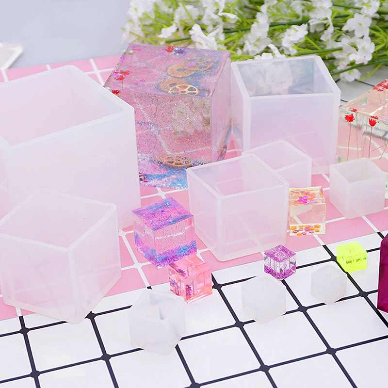 Transparent Silicone Square Mold Epoxy Resin Cube Molds For DIY Jewelry Making