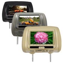 Universal Digital TFT LCD Screen Car Headrest DVD Player Monitor USB SD IR Game for Beige Gray Black Optional(China)
