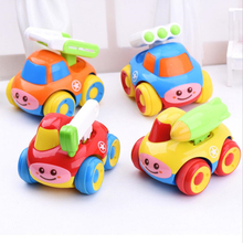 Puzzle Toys multicolor Military vehicles Cartoon inertia toy car mini Model car Lovely toys for baby child 4 styles(China)