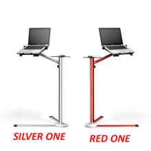 "UP-7 Aluminum tilt 360 rotate 10-15"" laptop stand holder With Mouse tray floor shelf height adjustable"