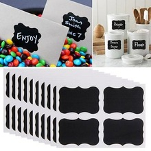36pcs /pack   x Mini Chalk Black Mason Jar Bottle Labels Stickers Chalkboard Pot Mark Note Sticker Muraux