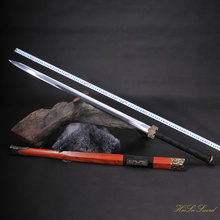 Hand Forged Chinese Han Sword Manganese Steel Sharp Edge Real Sword Vintage Best Gift(China)