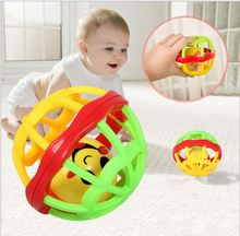 1PC Lovely Plastic Baby Toys Hand Shake Bell Ring Rattles toys Baby Educational Toys Jingle Rattle Toddler(China)