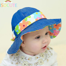 ISOCUTE Fashion Sun Baby Hat Girl Cap Cotton Summer Autumn Hats for Infant Toddler Girls Print Flower Caps Kids 8M to 24M
