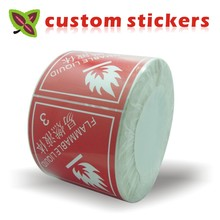 custom stickers labels printing ,Coated Art Paper sticker print /plastic PVC Vinyl paper transparent clear adhesive round label(China)
