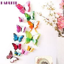 My House Decoration home  3D DIY  Butterfly Wall Sticker  2017 New Hot Sell 17M16
