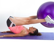 Fitness Exercise Swiss Gym Fit Yoga Core Ball 65CM Abdominal Back leg Workout Yoga2902(China)