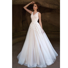 2017 Lovely Organza A Line Lace Wedding Dresses Wide Strap Lace Up Back Bride Wedding Gown