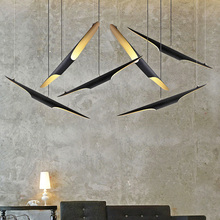 KUNG Promotion Modern 100cm creative Oblique cut Aluminum Tube Pendant light Personality Restaurant dining room with led bulb