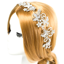 TDQUEEN Tiaras And Crowns Bridal Hair Ornaments For Weddings Crystals Pearls Hair Accessories Forehead Jewelry Women Diadem