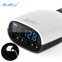 RAXFLY Dual USB Ports Car Charger Universal 5V/3.4A Adapter 5V 2.4A Fast Charging For iPhone For Samsung(China)