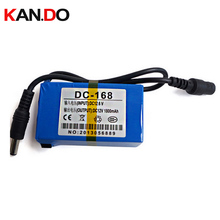 20pcs/lot DC 168 12V battery with switch 1800mah with charger DC 12V battery pack,lithium battery pack cctv camera power battery(China)